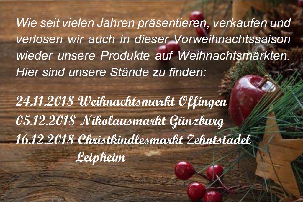 Weihnachtsmärkte 2018